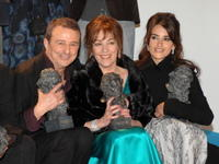Carmen Maura, Juan Diego and Penelope Cruz at the Goya Cinema Awards ceremony.