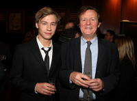 David Kross and David Hare at the premiere of