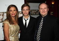 Lena Olin, David Kross and Henning Molfenter at the premiere of