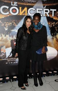 Leila Bekhti and Aissa Maiga at the premiere of