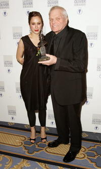 Jodhi May and Brian Dennehy at the Laurence Olivier Awards.