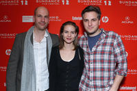 Filmmakers Fred Casella, Laura Solon and Ben Willbond at the
