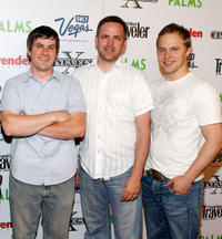 Writer/director Matt Jesperson, Brett Merritt and Maclain Nelson at the Nevada premiere of