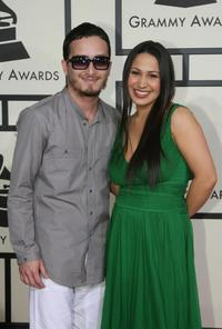 Obie Bermudez and Jennifer Pena at the 50th Grammy Awards.