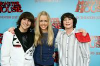 Mitchel Musso, Spencer Locke and Sam Lerner at the premiere of