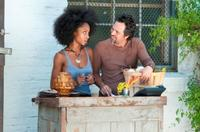 Yaya DaCosta as Tanya and Mark Ruffalo as Paul in