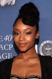 Yaya DaCosta at the after party of 40th NAACP Image Awards.