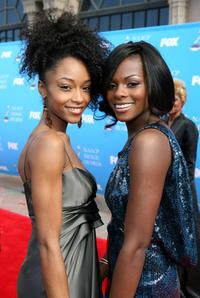 Yaya DaCosta and Tika Sumpter at the 39th NAACP Image Awards.