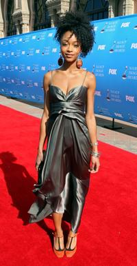 Yaya DaCosta at the 39th NAACP Image Awards.