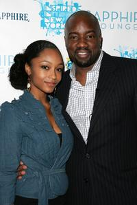 Yaya DaCosta and Malik Yoba at the opening night of Inspired by Film at Sapphire Lounge.