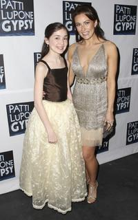 Emma Rowley and Laura Benanti at the after party of the Broadway opening night of