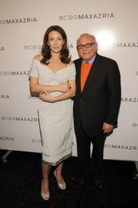 Laura Benanti and Max Azria at the BCBGMAXAZRIA Fall 2008 fashion show during the Mercedes-Benz Fashion Week.