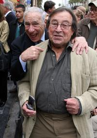 Paul Mazursky with Mel Brooks at the Alan Ladd Jr. star ceremony on the Hollywood Walk Of Fame.