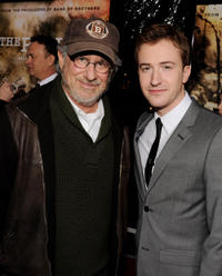 Executive producer Steven Spielberg and Joseph Mazzello at the California premiere of