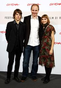Niilo Syvaoja, Dome Karukoski and Marjut Maristo at the photocall of