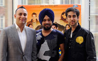 Russell Peters, Gurpreet Ghuggi and Vinay Virmani at the photocall of