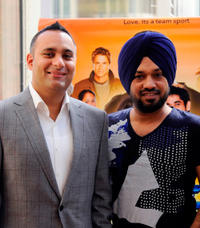 Russell Peters and Gurpreet Ghuggi at the photocall of