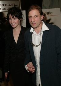 Simon McBurney and his wife at the world premiere of