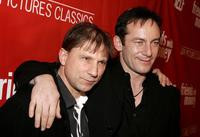 Simon McBurney and Jason Isaacs at the premiere of