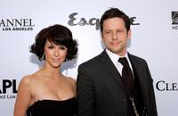 Jennifer Love Hewitt and Ross McCall at the Envelope Please APLA/Esquire Magazine Oscar Party.