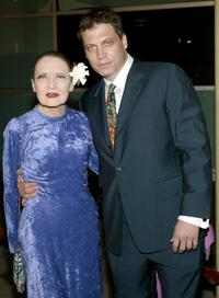 Julie Wilson and Holt McCallany at the premiere of