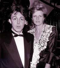 Paul McCartney and Linda McCartney in London.