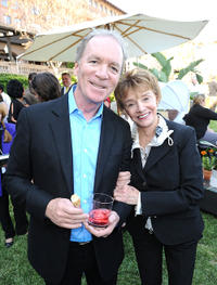 Executive producer Ken Corday and Peggy McCay at the after party of the NBC Universal Summer Press Day in California.