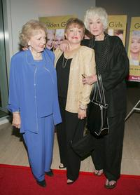 Betty White, Rue McClanahan and Bea Arthur at the DVD release party for
