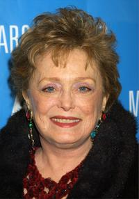 Rue McClanahan at the Marc Bouwer/Peta Fall/Winter 2002 Collection show during Mercedes-Benz Fashion Week.