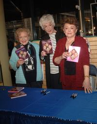 Betty White, Bea Arthur and Rue McClanahan at the book signing for her new book