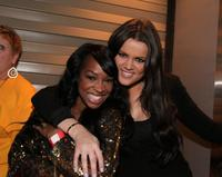 Malika Haqq and Khloe Kardashian at the Game Seven of the NBA playoff finals between Boston Celtics and the Los Angeles Lakers.