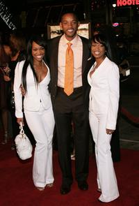 Khadijah Haqq, Will Smith and Malika Haqq at the premiere of