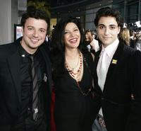 Sam Golzari, Shohreh Aghdashloo and Tony Yalda at the premiere of