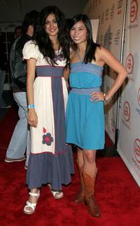 Noureen DeWulf and Camille Mana at the ImaginAsian TV Party during the AFI Fest.