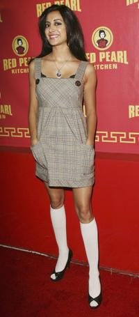 Noureen DeWulf at the grand opening of the Red Pearl Kitchen Hollywood.