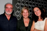 Ron McLarty, Kate Skinner and Nina Jacques at the opening night after party of