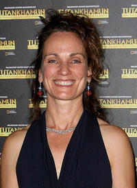 Catherine McClements at the opening night of the Tutankhamun exhibition in Melbourne.