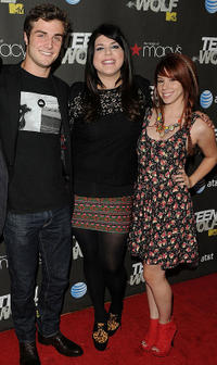 Beau Mirchoff, Molly Tarlov and Jillian Reed at the California premiere of