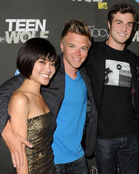 Jessica Lu, Brett Davern and Beau Mirchoff at the California premiere of