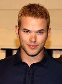 Kellan Lutz at the grand re-opening of the Burberry Beverly Hills store.