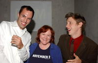 Edie McClurg, James Raven and Hank Harris at the 2004 Hollywood Film Festival, attend the after party following the premiere of