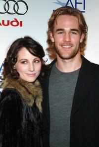 Heather McComb and James Van Der Beek at the premiere of