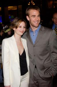 Heather McComb and James Van Der Beek at the celebration of the 100th episode of Dawsons Creek.
