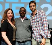 Deborah Scranton, Jean Pierre Sagahutu and Reid Reid Carolin at the Press Conference of