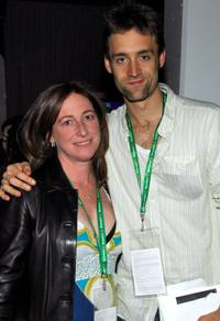 Deborah Scranton and Reid Carolin at the Filmmaker Meet & Greet party during the 2010 Tribeca Film Festival.