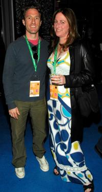 Zachary Iscol and Deborah Scranton at the Filmmaker Meet & Greet party during the 2010 Tribeca Film Festival.