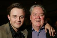 Matthew Newton and Rhys McConnochie at the drinks reception of