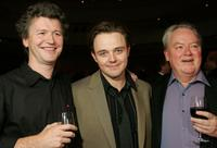 Simon Philips, Matthew Newton and Rhys McConnochie at the drinks reception of