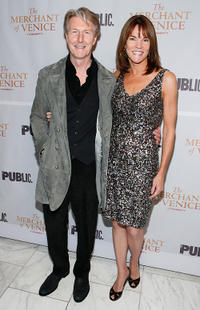 Byron Jennings and Carolyn McCormick at the Broadway opening night of
