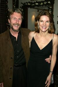 Byron Jennings and Carolyn McCormick at the after party of the play opening of